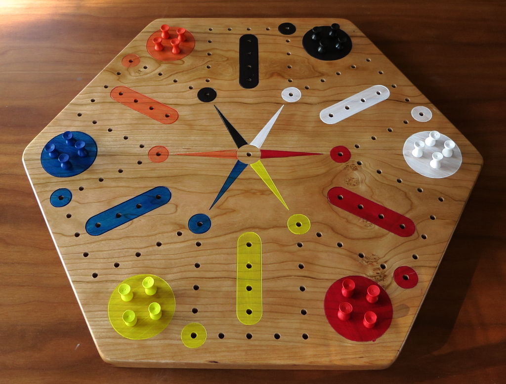 chinese checkers board template - cherry fast track aggravation game board with pegs