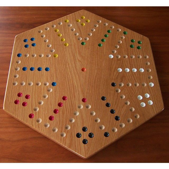 Oak Wood Aggravation Board Game