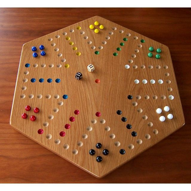 Wood Board Games ~ Oak wood aggravation board game