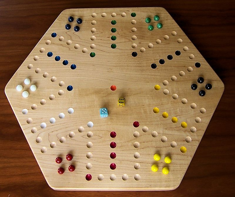 Hard maple wood aggravation board game