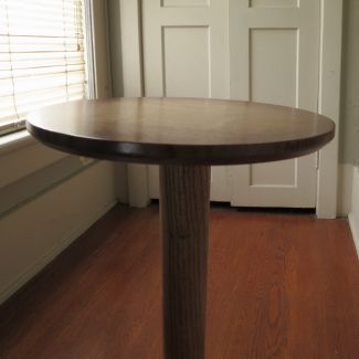 Plant Stand - Solid Oak Sunburst
