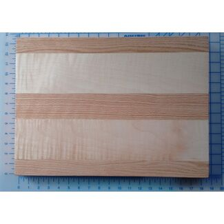Cutting Board - Curly Maple and Cherry 20x12