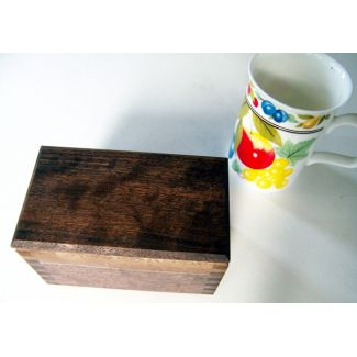 Small Walnut Lift-Lid Wood Box - 5 x 3