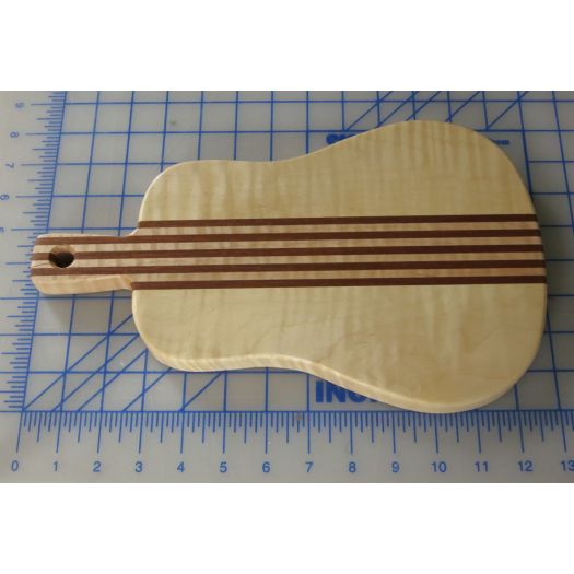Acoustic Guitar Cheese Board - Maple and Sapele