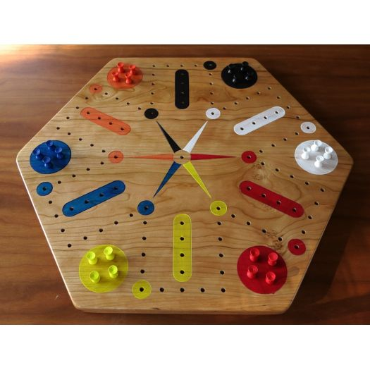 Cherry Fast Track / Aggravation Game Board With Pegs