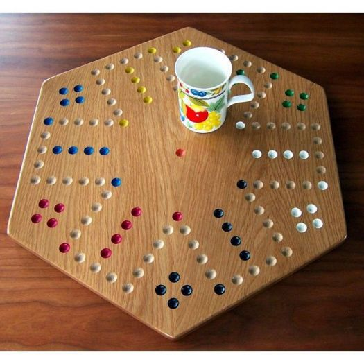 Oak Aggravation Board Game - 6 player side
