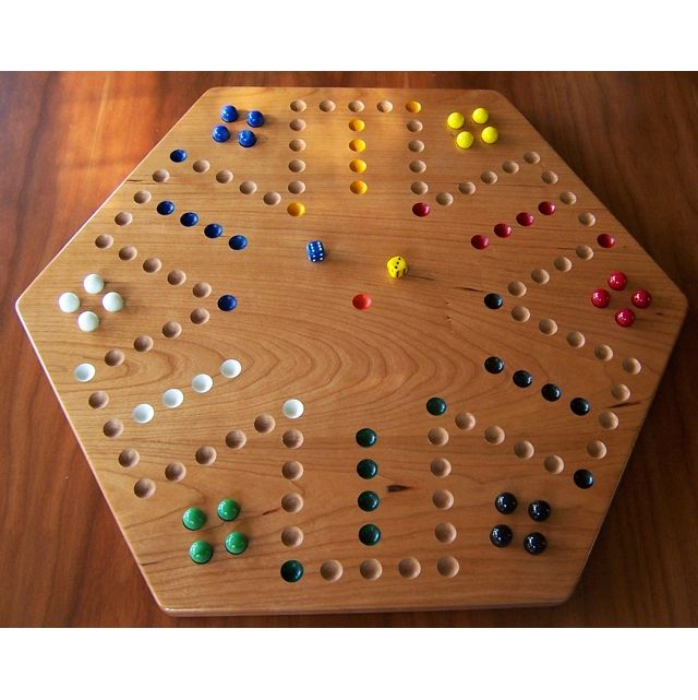 Colored Marbles For Games : Cherry wood aggravation board game