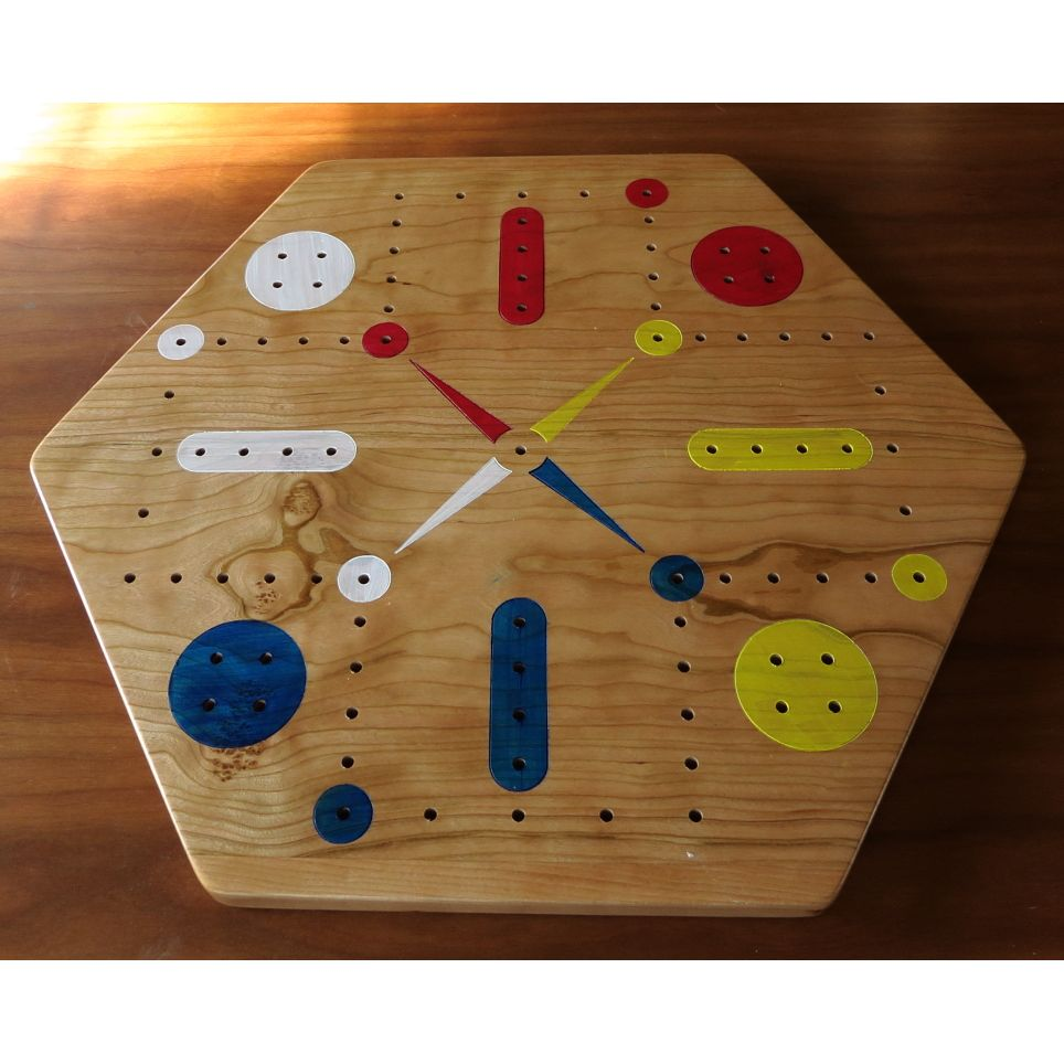 Cherry Fast Track Aggravation Game Board With Pegs